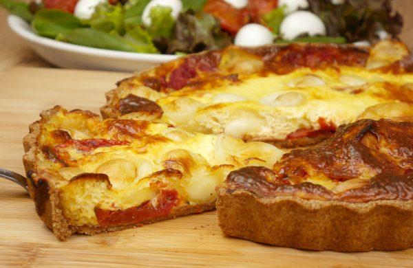 Como fazer Quiche Integral de mozzarella de Búfala com Tomate Seco