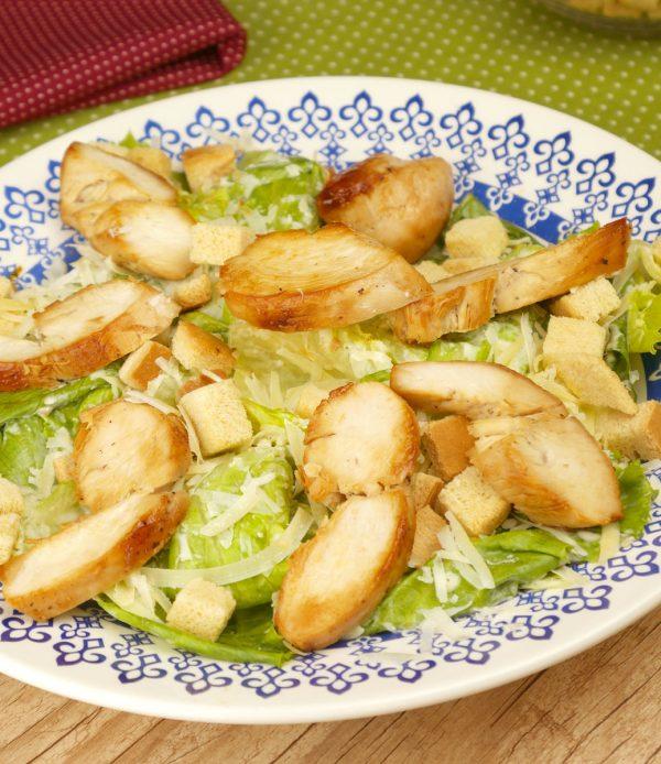 Como fazer Salada Caesar com Frango / Chicken Caesar Salad