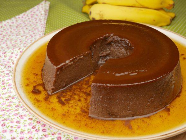 Como fazer Pudim de Banana com Chocolate na Penal de Pressão