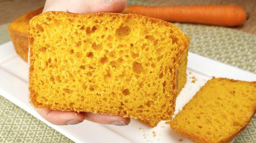 Pão de cenoura sem sova